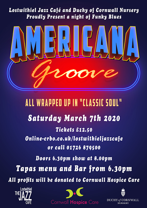 Americana Groove at Lostwithiel Jazz Cafe