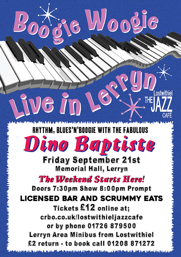 Live in Lerryn with Dino Baptiste