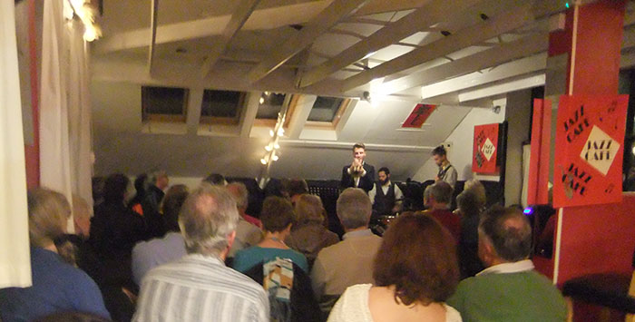 Lostwithiel Jazz Cafe into the blue