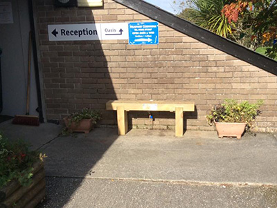 Boogie bench donated to Lostwithiel Community Centre