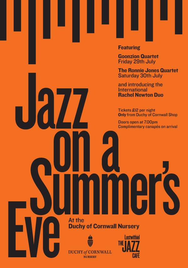 Jazz on a Summers Eve at Duchy of Cornwall Nursery and Cafe