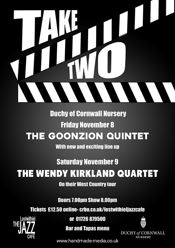 Take Two poster for Lostwithiel Jazz Cafe
